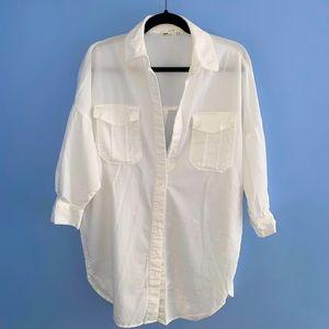 ZARA White Denim Shirt